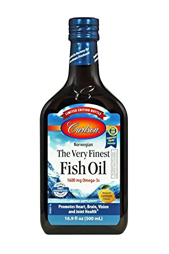 Carlson Limited Edition The Very Finest Fish Oil, Norwegian, Lemon, 1,600 mg Omega-3s, 500 mL by Carlson