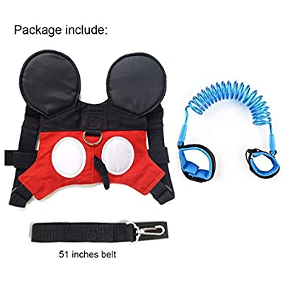WSPER Baby Leash Toddler Anti-lost Harness Safety Walking Belt for Girls Boys
