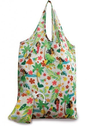 Hawaiian Island Hula Honeys Eco-foldable Reusable Tote (Island Hula Honeys)