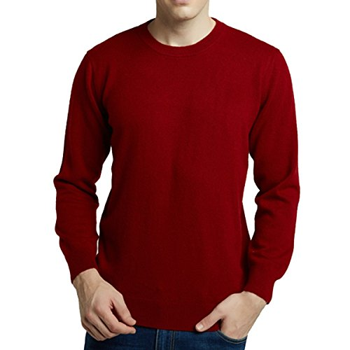Hot FCYOSO Mens Slim Fit Crew-Neck Pullover Cashmere Sweater free shipping