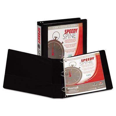 Speedy Spine Round Ring View Binder, 11 x 8-1/2, 1-1/2