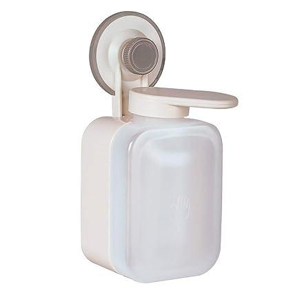 Dispensador de Jabon Pared, Dispensador de Champu Cellenable No Perforado Dosificador de Jabon Dispensador de