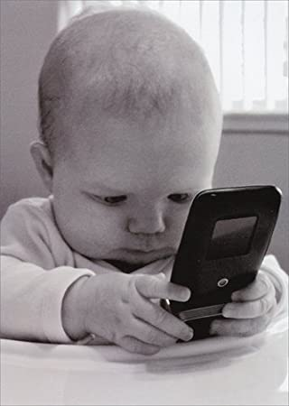 Amazon baby with cell phone avanti funny birthday card baby with cell phone avanti funny birthday card bookmarktalkfo Image collections