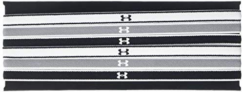 (Under Armour Women's Mini Headbands - 6 Pack, Black (005)/White, One Size Fits All Fits All)