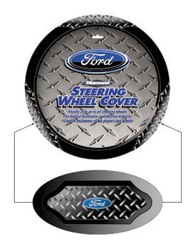 Ford Blue Oval Logo Vehicle Car Truck SUV Auto Universal Fit Steering Wheel Cover (Ford Truck Wheel Cover)