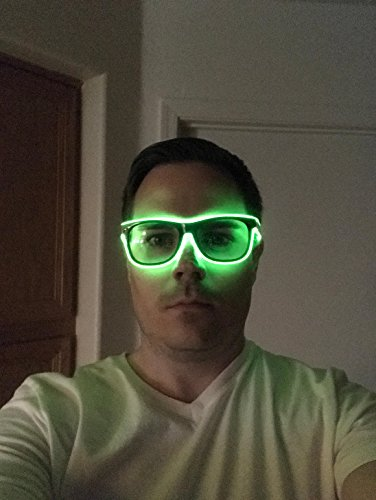 GlowSpecs Glowing El Wire Party Rave Glasses