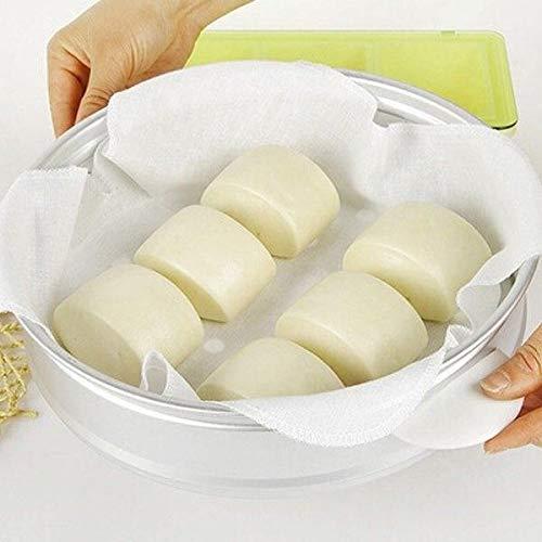 Bazzano 2pcs Dumpling Pastry Non-Stick Cotton Fabric Steamer Perfect Tray Cloth Steamed Gauze