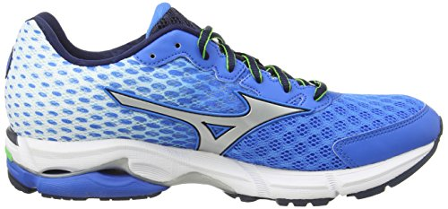 MizunoWave Rider 18 - Zapatillas de running hombre Azul (electric blue/lemonade)