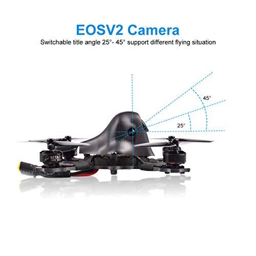 BETAFPV HX100 2-3S Frsky FPV Racing Quadcopter Carbon Fiber with F4 2-4S AIO 12A FC Caddx EOS V2 Camera OSD Smart Audio 0/25/200mW Switchable VTX 1103 8000KV Motor Micro RC Drone (Frsky FCC)