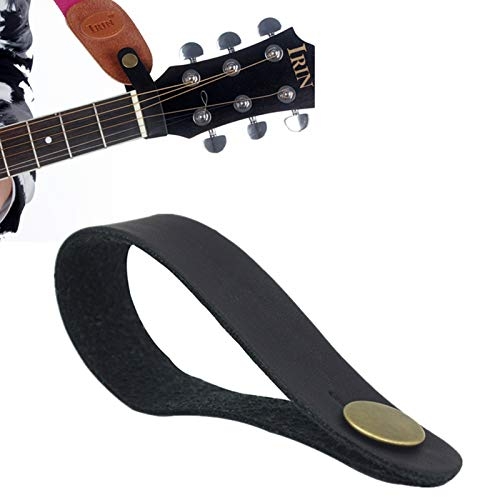 YiPaiSi Premium Guitar Strap Lock, Leather Guitar Strap Button, Leather Guitar Neck Strap Button, Guitar Headstock Strap Tie, Anti Copper Suited for Acoustic, Electric, Bass Guitars, Ukulele Straps