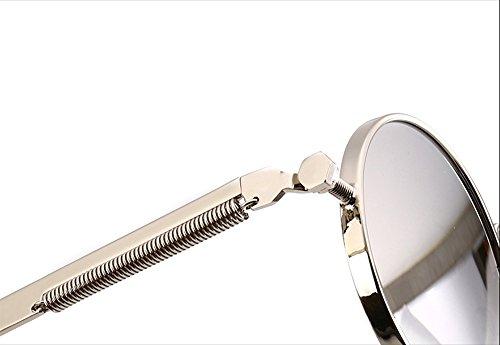 Homme de argenté Lunettes Style chat de Miroir de yeux Diamant TSGL297 Femme argenté CHTIT soleil Ronde qBIBwv1
