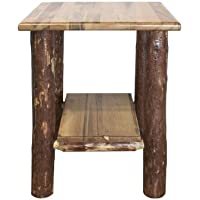 Montana Woodworks MWGCNS Glacier Country Collection Nightstand/End Table with Shelf