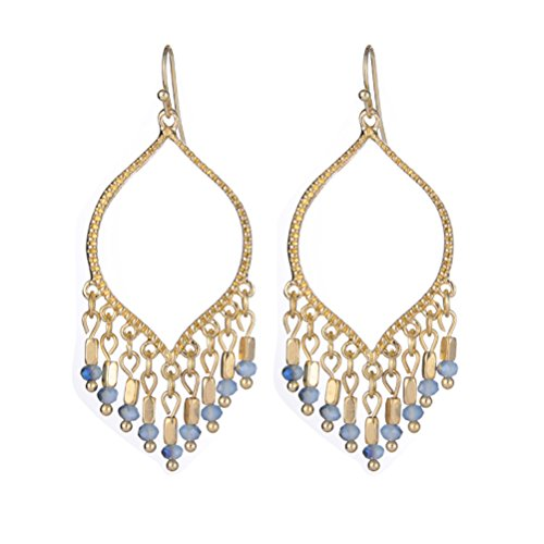 SunIfSnow Women Prom Arc-Shaped Chandelier Earrings
