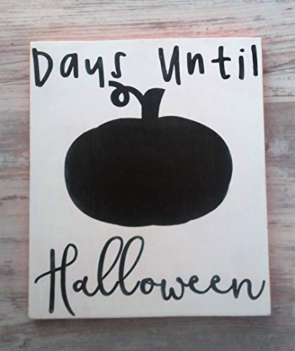 Days Until Halloween Sign, Halloween Countdown, Halloween Sign, Chalkboard Halloween Sign Wooden Sign Wall Decor Garden Signs and Plaques -