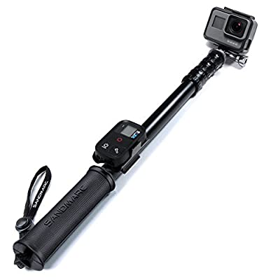 """SANDMARC Pole - Metal Edition: 15-50"""" Professional All-Aluminum Waterproof Extension Pole / Stick / Monopod for GoPro Hero 5 Black / Session, Hero 4 / Session, 3+, 3, 2, and HD Cameras from SANDMARC"""