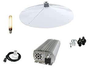 """Outlaw Hydroponics 1000W Dimmable Digital Grow Light System with a 42"""" Econostar Round White Reflector"""