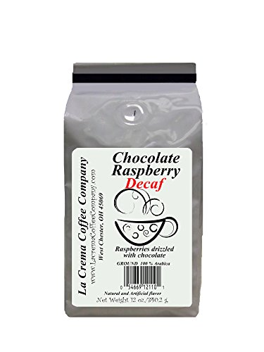 La Crema Coffee Decaf Twin Pack, Chocolate Raspberry,  12 Ounce (Decaf Raspberry Coffee)