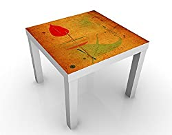 Apalis 46101–276679 Design Table la Chine Plant, 55 x 55 x 45 cm, Orange, 45x55