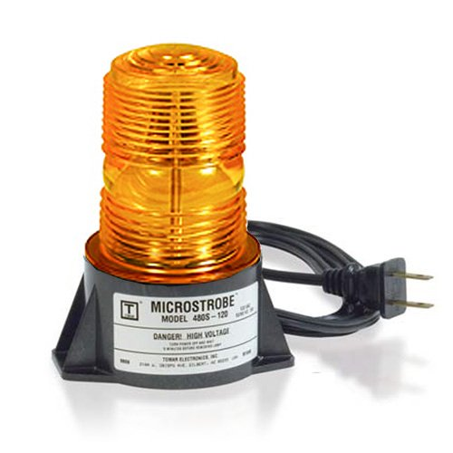 Tomar Electronics 480S-120 MicroStrobe Single Flash Surface Mount Amber Strobelight 120VAC
