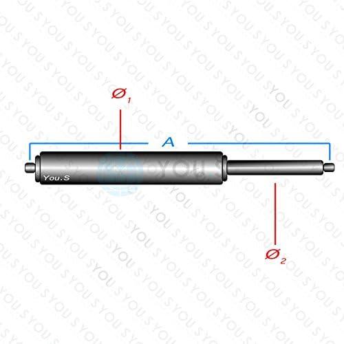 404 mm Kraft 2 x YOU.S Gasfedern f/ür Motorhaube L/änge 500 N 1T0823359C