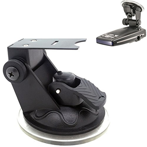 ChargerCity Car Dashboard & Windshield Suction Cup Mount Radar Detector Holder for Escort Passport 9500ix 9500 8500 8500x50 x 55 7500 S55 Solo S3 and Beltronics GX65 RX65 Vector Radar Detectors