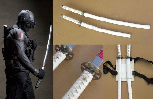 Dream2reality Cosplay G.I. Joe Snake Eyes set of 2 White Medium Carbon Steel Sword