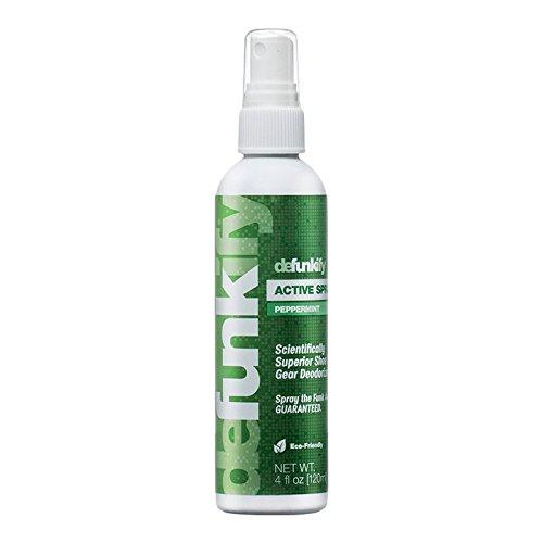 Sportswear Deodorizer Spray by Defunkify | Long-Term Scented Odor Eliminator - Odor Control for All Sports Gear (Peppermint 4 Ounce)