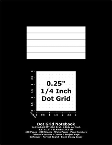 Dot Grid Notebook: 0 25 Inch (1/4