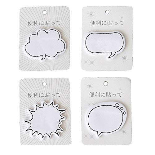 (ERCENTURY Creative Sticky Notes in 4 Different Dialogue Shapes (30 Sheets per Shape, 120 Sheets in Total))
