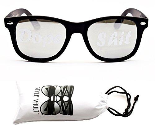 P1055-vp-Style-Vault-80s-Wayfarer-Print-Sunglasses-DS-WHT-Mtblack-silver-mirror-mirrored