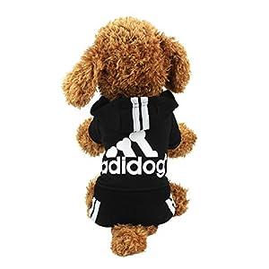 Idepet TM Adidog Pet Dog Cat Clothes 4 Legs Cotton Puppy Hoodies Coat Sweater Costumes Dog Jacket 69
