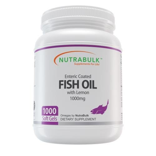 Nutrabulk Enteric Coated Omega-3 Fish Oil 1000mg Soft Gels 1000 Count