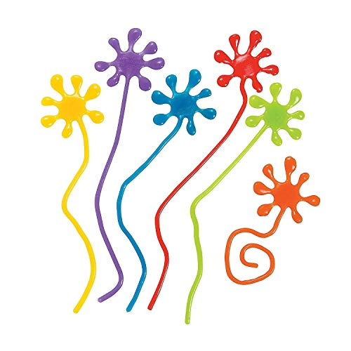 (Paint Splatter Sticky Hands Party Favors - 12)