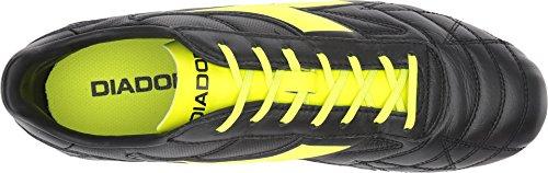 Diadora Unisex M. Winnaar Rb K-plus Mg14 Zwart / Geel Fluorescerend