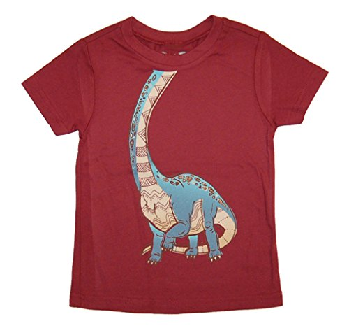 - Peek-A-Zoo Toddler Become an Animal Short Sleeve T shirt - Brachiosaurus Wine (4T)