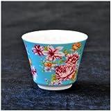 茶杯 花布柄 ブルー