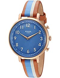 Women's Stainless Steel Hybrid Watch with Leather Strap, Multi, 14 (Model: FTW5050)