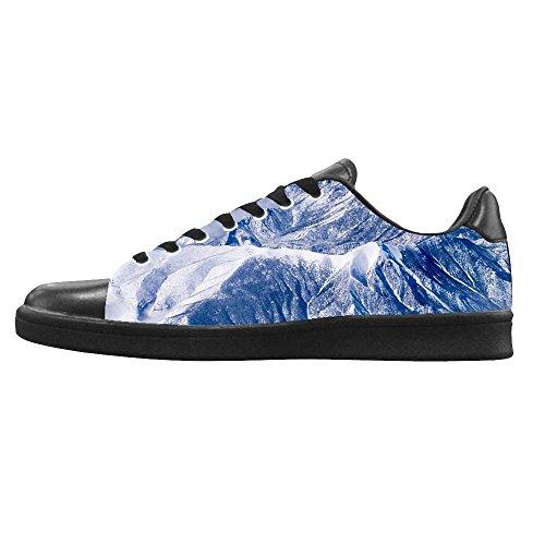 Dalliy schneebedeckte Berge Mens Canvas shoes Schuhe Lace-up High-top Sneakers Segeltuchschuhe Leinwand-Schuh-Turnschuhe D