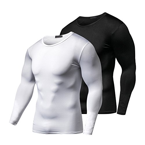 9ba0d9e4ae3c FITIBEST Quick Dry Compression Baselayer Long Sleeves T-Shirt Sports  Exercise Clothes Ultra Thin Running