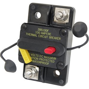 Blue SEA 7186 Circuit Breaker 80AMP Surface Mount 185 Series Thermal Circuit Breaker