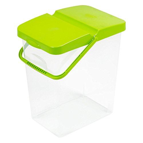 25 L Behälter Waschpulver Futterbehalter Unibox mit Deckel grün Aufbewahrungsbox Bad Küche