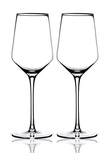 Merry Crystal- Set of 2 Clear Glass Drinking Cups - 17oz Restaurant Style Stemware - Elegant Box by Award Winning Designer with Special Xmas Bag- Unleaded - Dishwasher Safe by AY&Z Frostware (Image #4)'