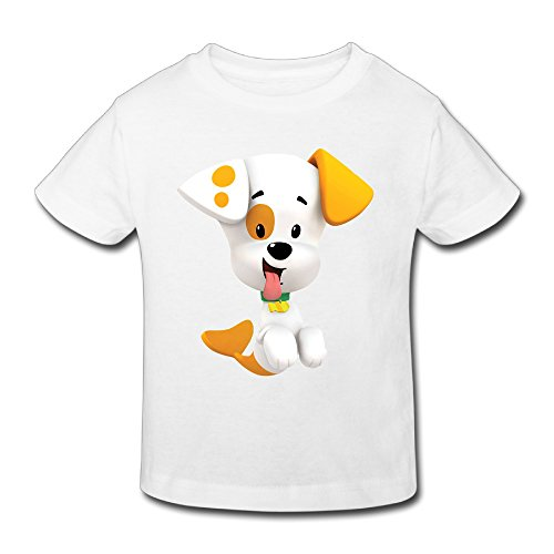 KNOT Fashion Bubble Guppies Bubble Puppy Kids Toddler T-Shirt White US Size 3 Toddler ()