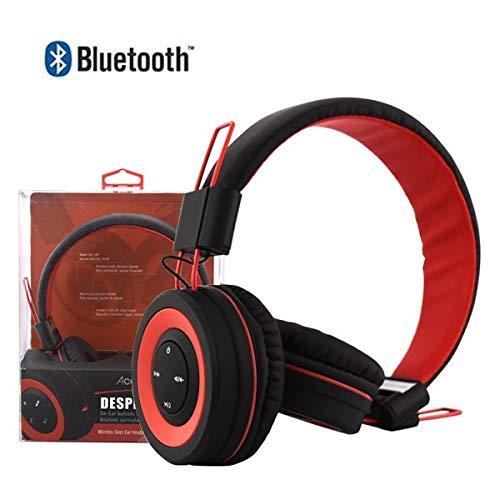 Acellories Desperado Over-Ear Bluetooth Wireless Headphone Earphones for Smartphones Apple Samsung LG HTC (Red)