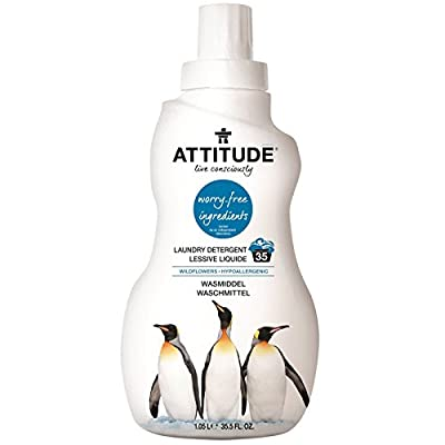 ATTITUDE, Laundry Detergent, Wildflowers, 35.5 fl oz (1.05 l) - 2pc