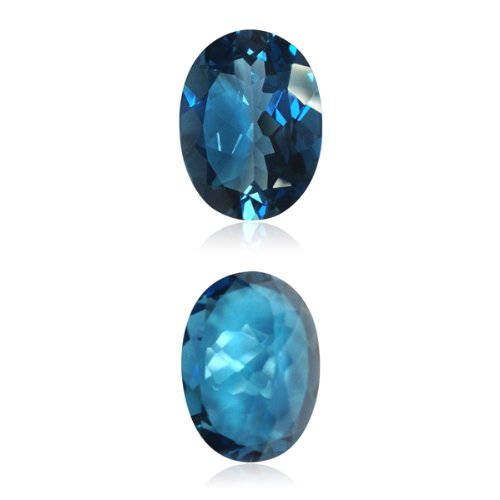 22.00-24.00 Cts of 20X15 mm AAA Oval London Blue Topaz ( 1 pc ) Loose Gemstone