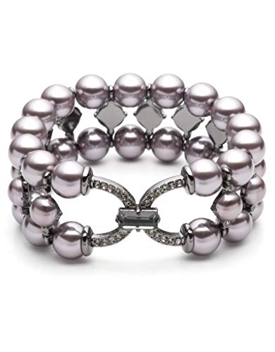 (Carolee Women's Three Row Stretch Pearl Bracelet)