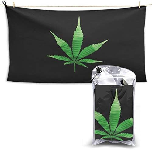 大麻イラストバスタオル超吸水ソフト