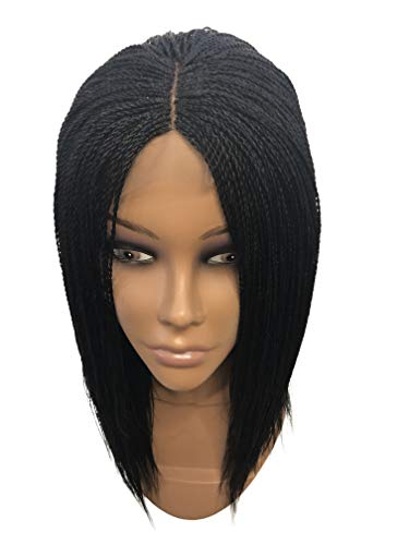 gs for African American Women Lightweight–Micro Twist Wig, Frontal Lace Closure Finishing, Enjoy A Natural Look Color: 1 (12 inches) ()