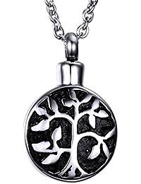 Tree of Life Cremation Jewelry Keepsake Memorial Urn Locket Necklace